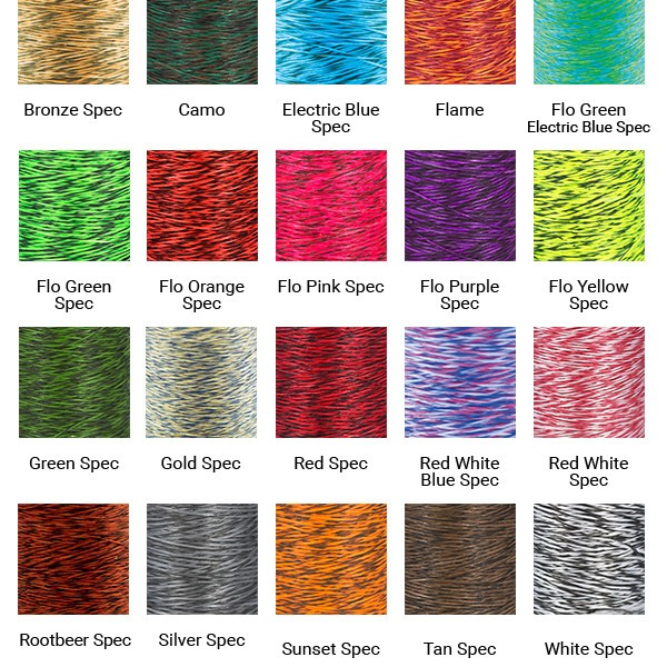 compound bowstring speckled colors (1)