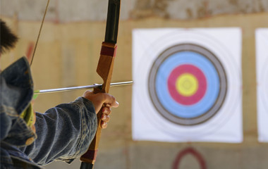 Using Archery Supplies At An Archery Range - 1-10